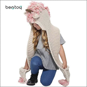 Unicorn Scarf And Hand Warmer - Skullies & Beanies