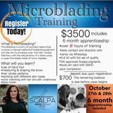 DEPOSIT (PAYMENT PROGRAM) TRAINING: Microblading Training & 6 Month Apprenticeship Program