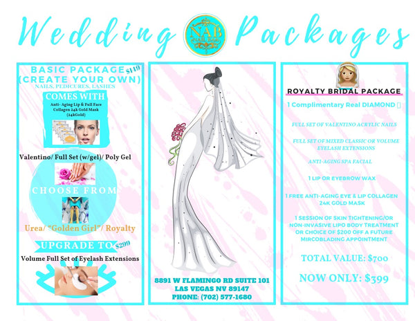 SPA PAMPERING PACKAGE: 👰🏼💎Royalty Bridal Package:💎👰🏼