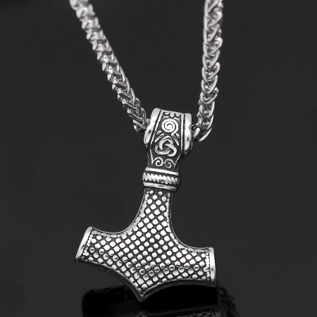 Image of Stainless Steel Thor's Mjölnir Necklace - VikingLifestyles