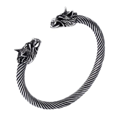 Image of Stainless Steel Odin's Wolves Bracelet