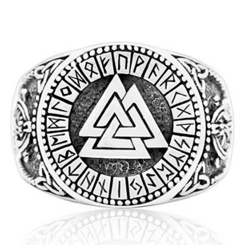 Image of valknut runes ring