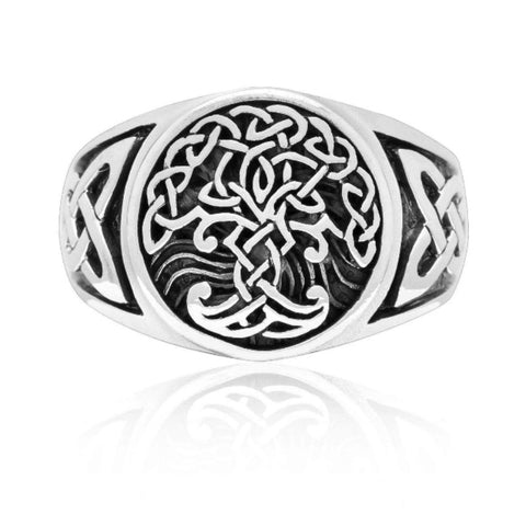 Image of Stainless Steel Yggdrasil Ring - VikingLifestyles