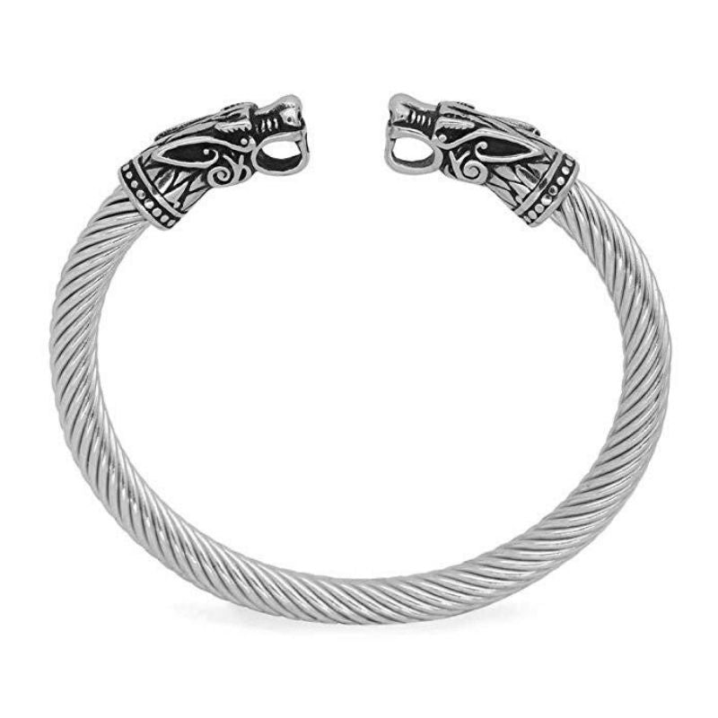 Stainless Steel Ancient Dragons Bracelet - VikingLifestyles
