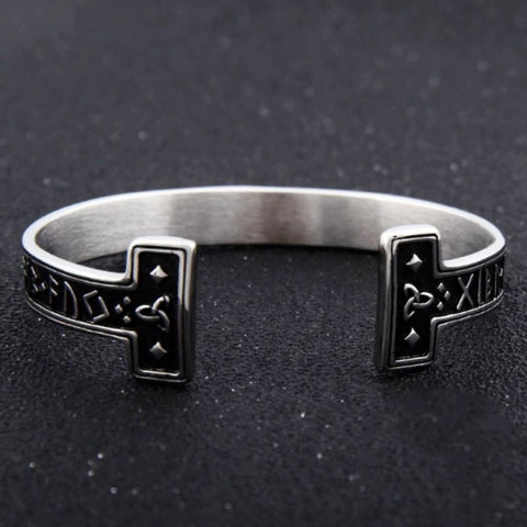 Image of Stainless Steel Norse Runes Bracelet - VikingLifestyles