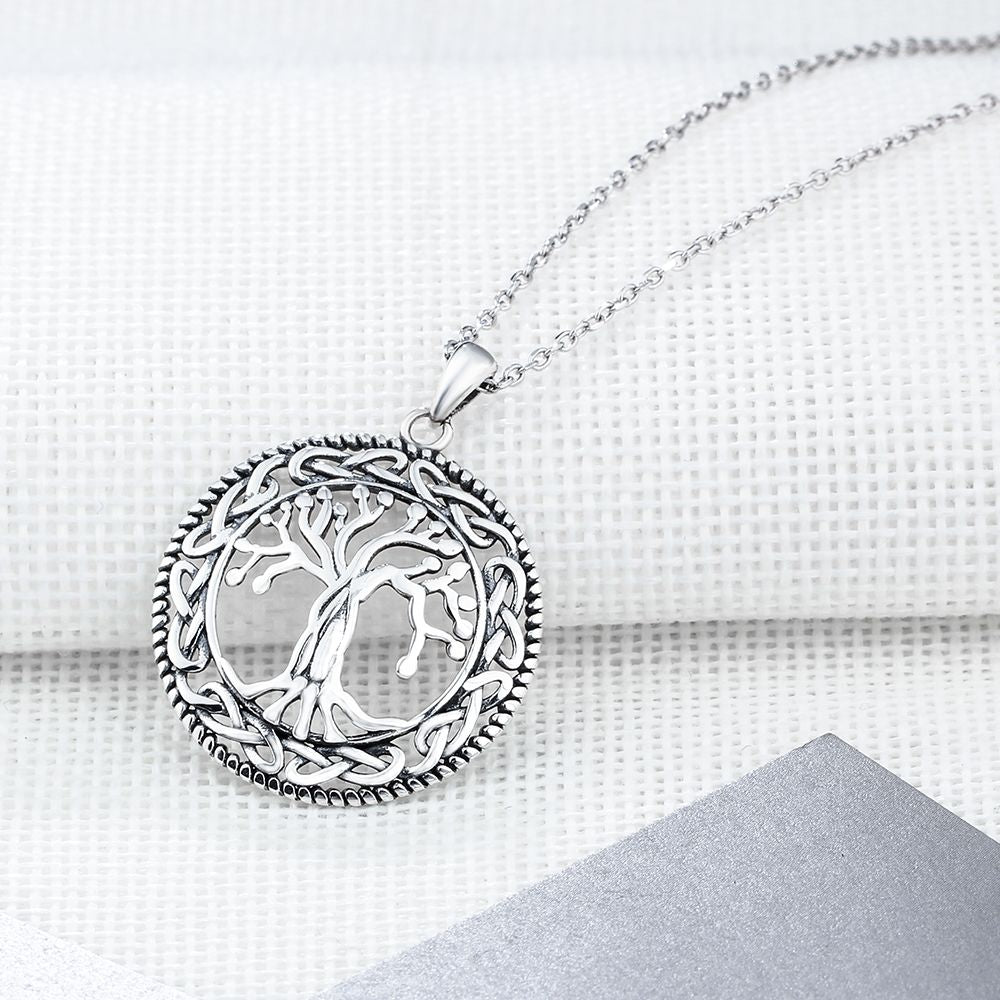 Rhodium Plated Tree of Life Necklace - VikingLifestyles
