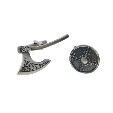 Axe & Shield Cufflinks - VikingLifestyles