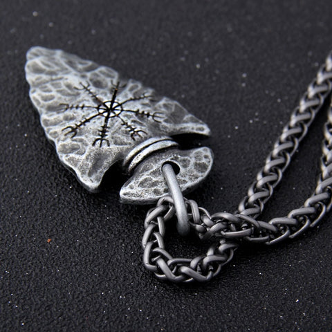 Image of Stainless Steel Helm of Awe Necklace - VikingLifestyles