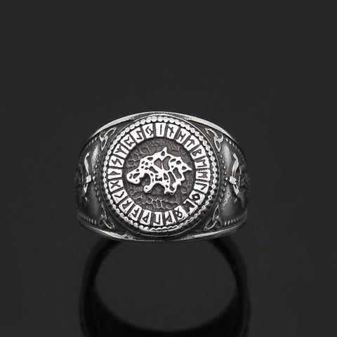 Image of Stainless Steel Fenrir Ring - VikingLifestyles