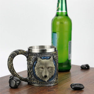 Stainless Steel Wolf Mug 450ML