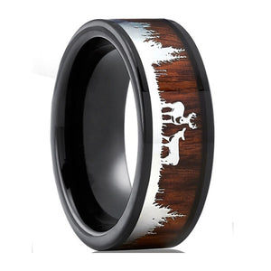 Tungsten Carbide Norse Hunters Ring - VikingLifestyles