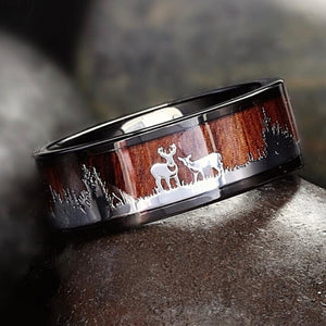 Tungsten Carbide Norse Hunters Ring