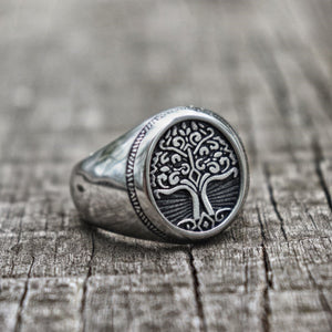 Stainless Steel Ancient Yggdrasil Ring