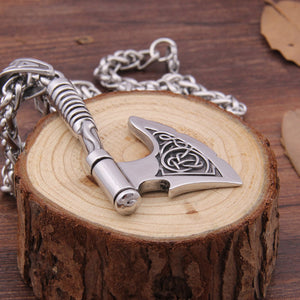 Ragnar's Battle Axe Necklace (Hand Crafted Stainless Steel Bottle Opener)