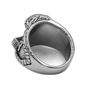 Stainless Steel Thor's Hammer Ring