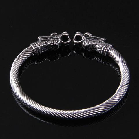 Image of Stainless Steel Ancient Dragons Bracelet - VikingLifestyles