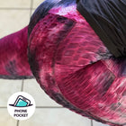 Scrunch Butt Tie Dye Textured High Waisted Leggings with phone pocket