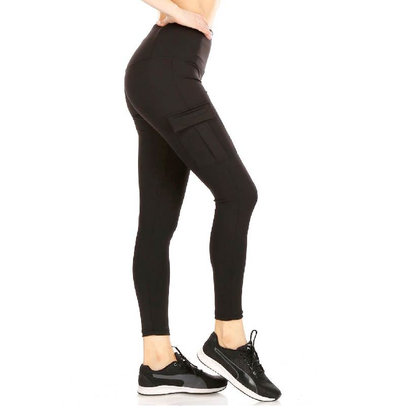 High Waist Cargo Pocket Leggings