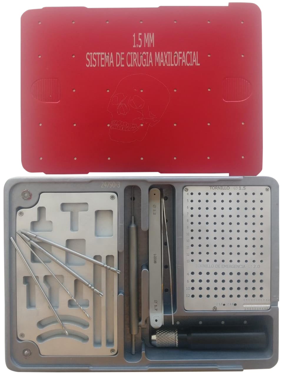 KIT INSTRUMENTAL MAXILOFACIAL 1.5MM