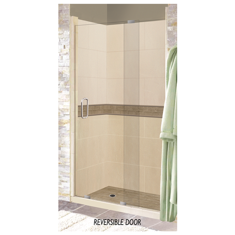 "60"" x 30"" Scottsdale Right Drain Alcove Grand Slider Shower Kit (Includes Pan, Walls, and Glass)"