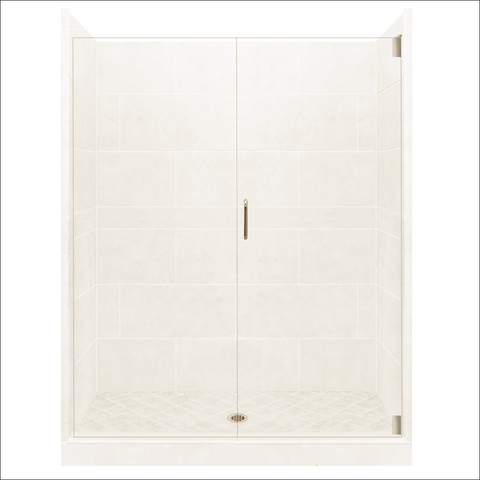 48 x 42 Monterey Alcove Grand Hinged Shower Kit (Includes Pan, Walls, and Glass)