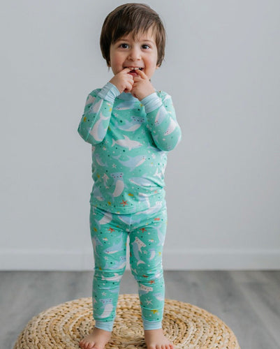 Two Piece Pajama Set Shark Soiree