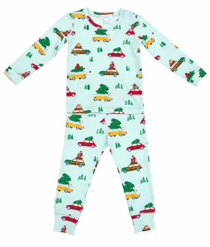 Pajama Set Holiday Wagon