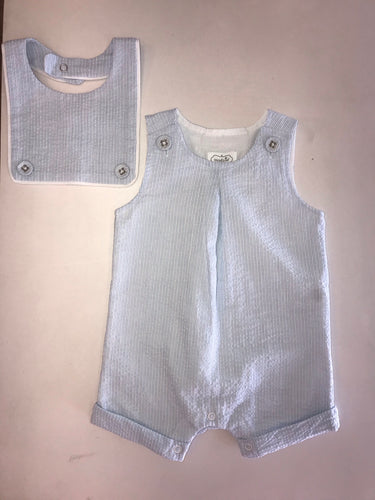 Seersucker Shortall With Bib