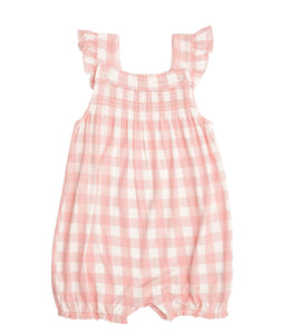 Smocked Front Overall