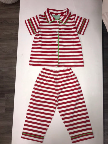 Red & White Stripe PJ Set