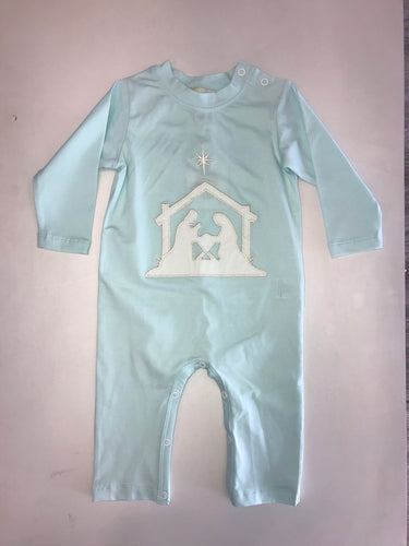 Nativity Sky Blue Romper