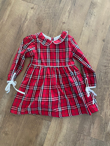 Sandra  Red Tartan Dress