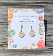 Load image into Gallery viewer, PENSACOLA BEACH SHELLS CIRCLE DROP EARRINGS