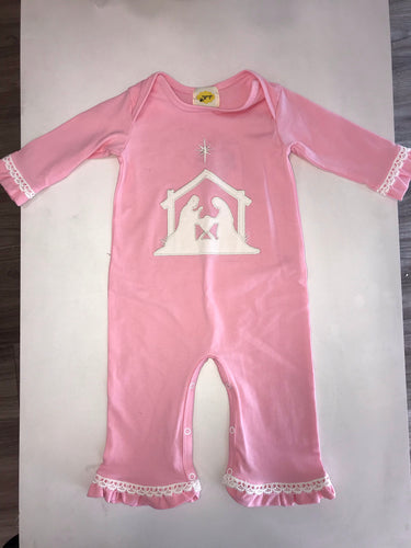 Nativity Pink Romper