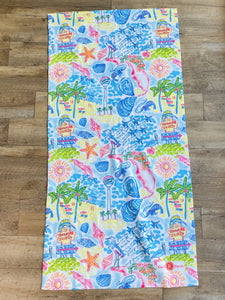 Pensacola Beach Watercolor Towel - Pizzaz home