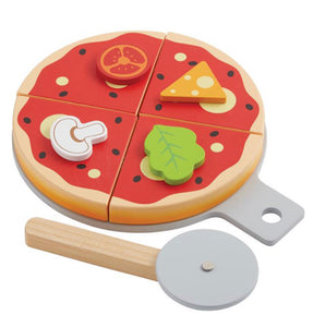 Wood Pizza Play Set