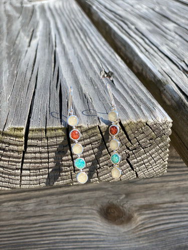 PENSACOLA BEACH SAND MULTI STONE EARRINGS - Pizzaz home