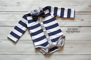 Dapper Dude Cardigan Bodysuit