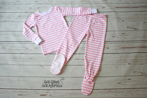 Footie Pants Pajamas Set