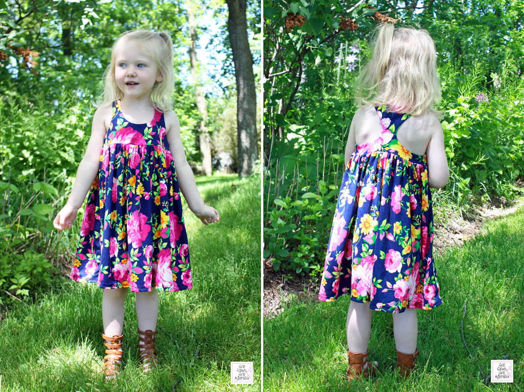 Custom Girl's Racerback Dress  with empire waist