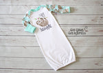 Sloth Baby Gown