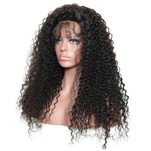 Black Brazilian Fashion Hair Wigs Glueless Lace Front Wig Women Silky Long Curly Wavy Wigs
