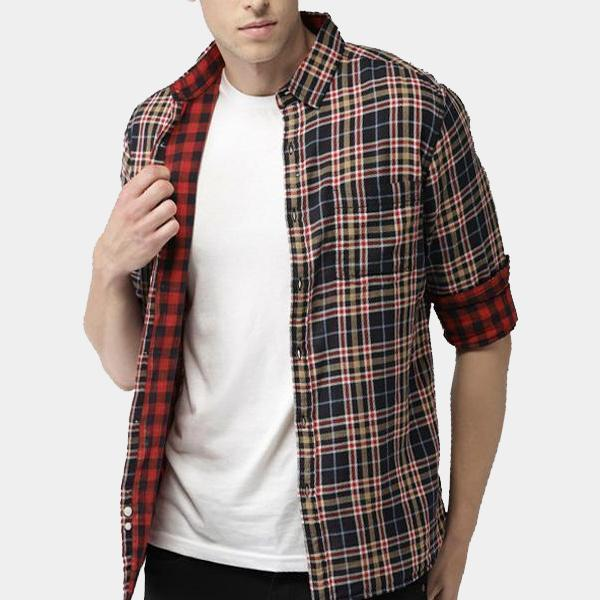 DOUBLE SIDE SHIRTS CHECK SHERPA-LINED FLANNEL SHIRTS PACK OF 3
