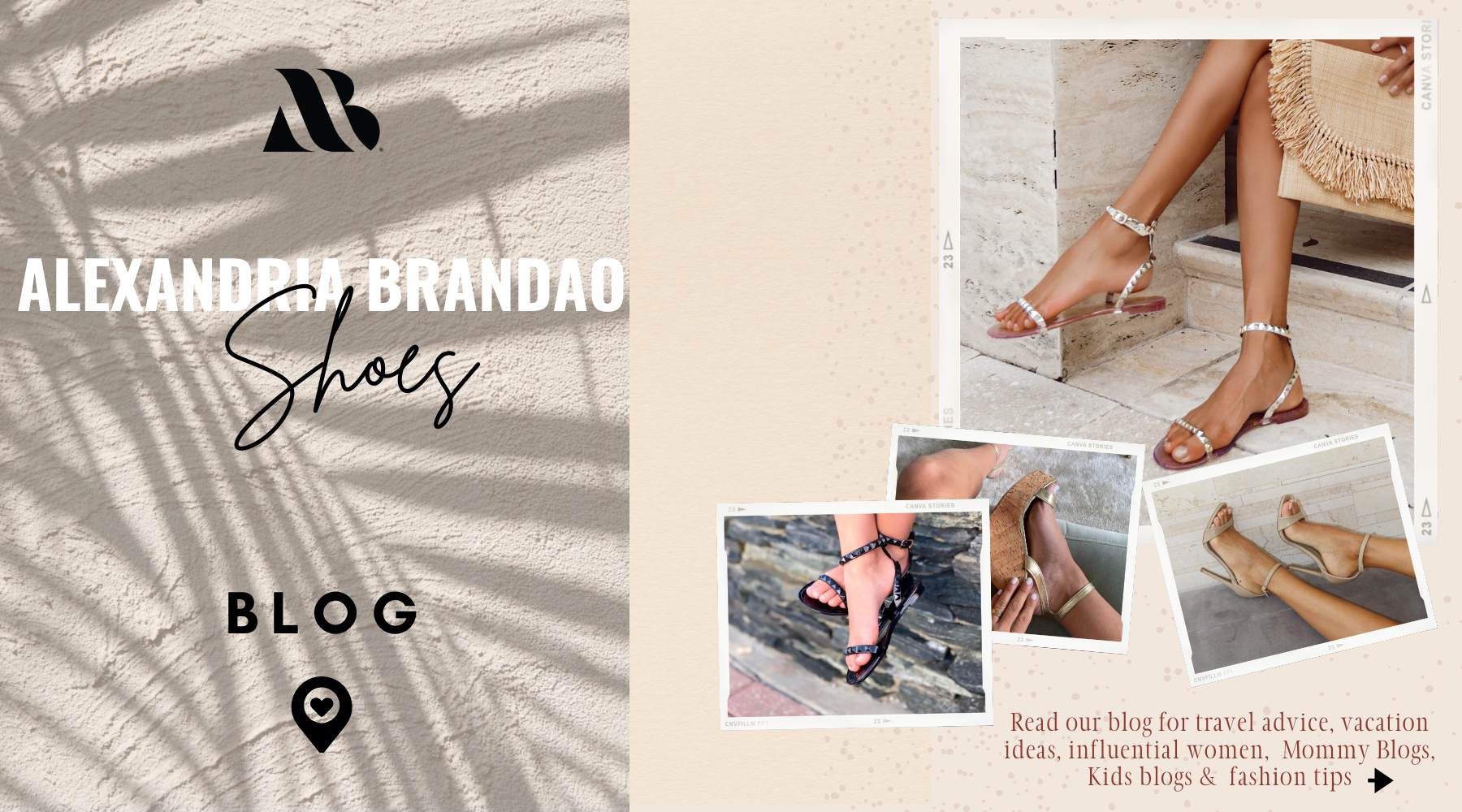 Alexandria Brandao Shoes Blog that give travel trips and fashion tips on how, where and how to wear their shoes! Pictured at our women and kid's jelly sandals and women's heels and wedges.