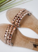 Women's Aria B nude waterproof slide on jelly sandals by Alexandria Brandao