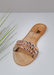 Women's Aria B gold waterproof slide on jelly sandals by Alexandria Brandao
