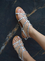 Astrid B Sandals in Silver