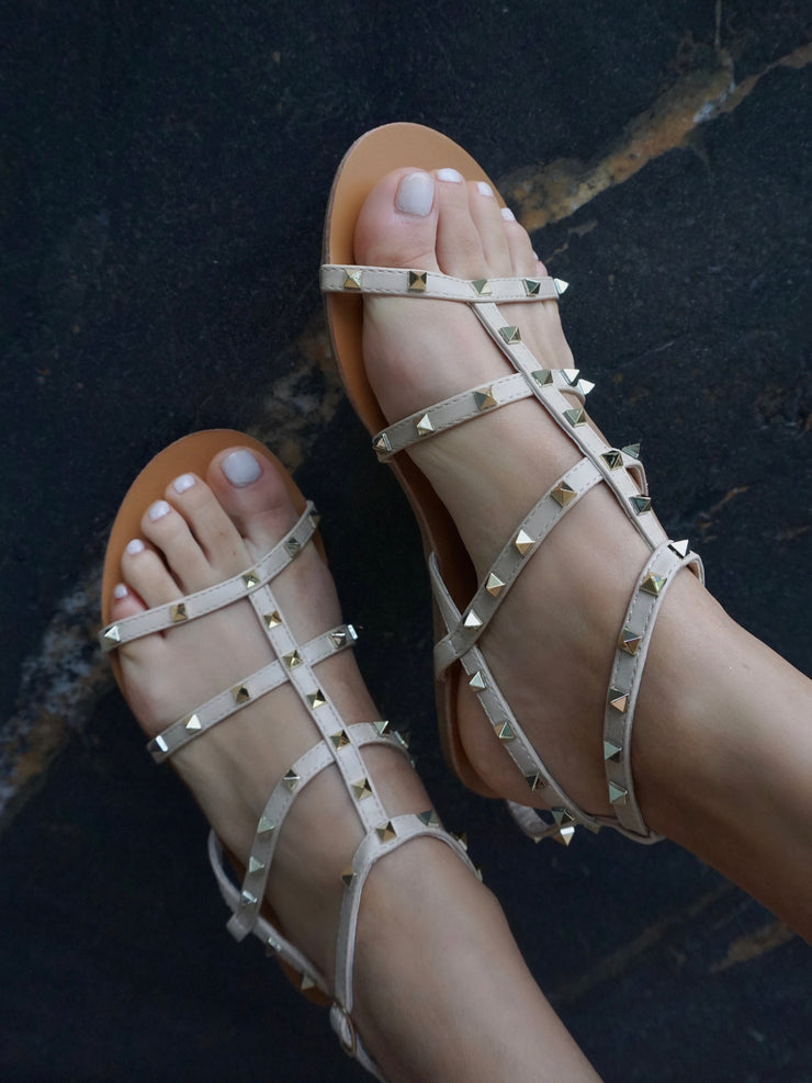 Astrid B Sandals in Nude