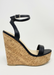 Women's black cork wedge! women's black wedge, Amora wedge by Alexandria Brandao Shoes.