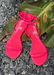 Aria Neon Pink everyday jelly sandals.